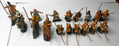 Lot of 17 Ancient [Greek] Period Painted Cast Metal Soldiers