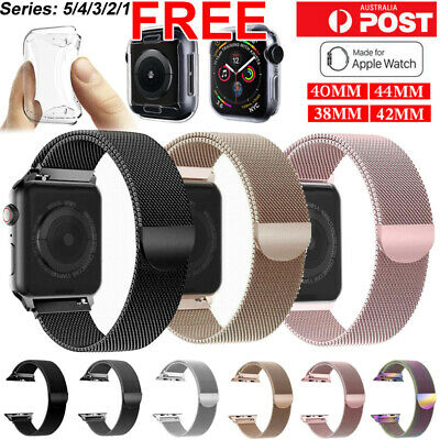Band For Apple watch Series 5 4 3 21 Milanese Magnetic Stainless Loop iwatch SYD