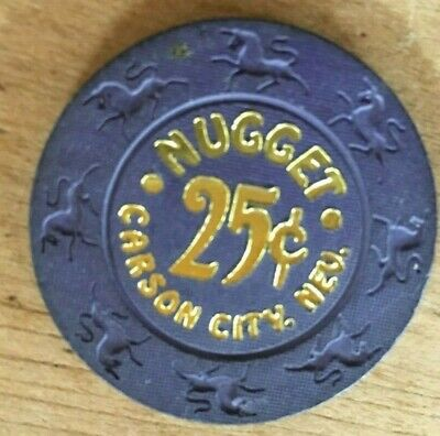 Vintage Poker chip Carson City Nevada NUGGET casino 25 cents