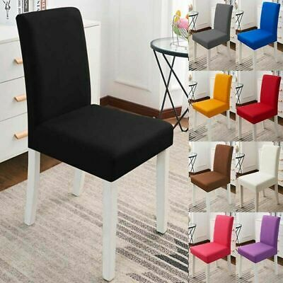 Home & Garden Set of 2/4/6/8 Stretch Removable Washable Dining ...