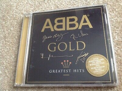 """ABBA - """"Gold"""" CD  - GREATEST HITS (LIMITED 25TH ANNIVERSARY EDITION) Best Of"""