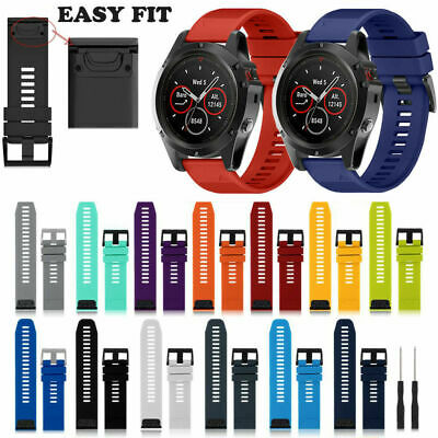 Soft Silicone Watch Band Wrist Strap Replacement For Garmin Fenix 5X/5/3 26mm UK