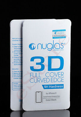 3 x iPhone X/XS 3D Full Cover Tempered Glass Screen Protector (B) by Nuglas(BNS)