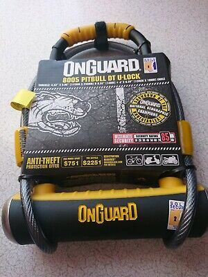 Onguard Pitbull 8005 Shackle Bike Lock with Cable Rated Gold Sold Secure
