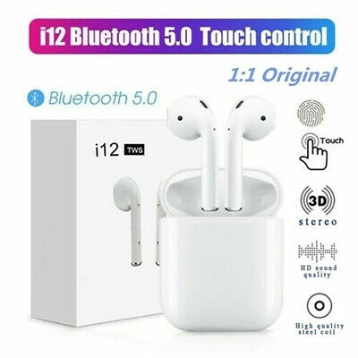 i12 TWS Bluetooth 5.0 Earbuds Wireless Headphones Earphones For Android iphone