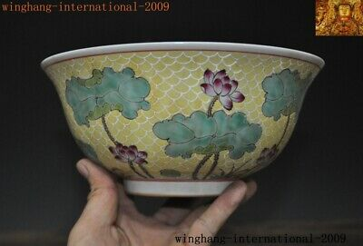Rare Old Chinese Dynasty palace Wucai porcelain lotus flower statue Tea cup Bowl