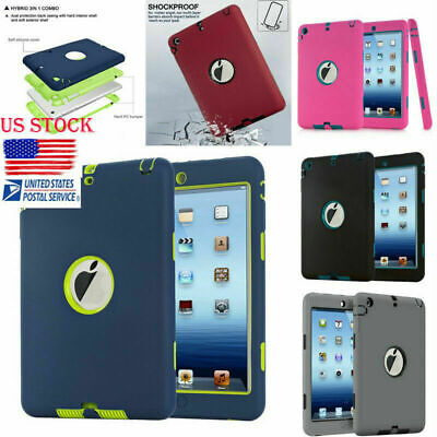 US Ship Rugged Shockproof Armor Defender Protective Cover Case for iPad Mini123