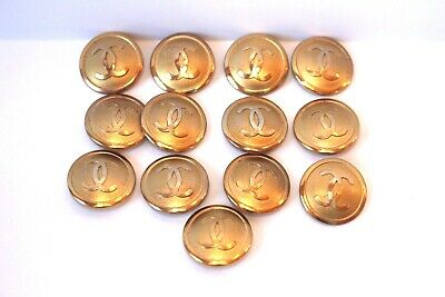 Chanel Vintage Gilt Buttons Set Of 13 $99.00