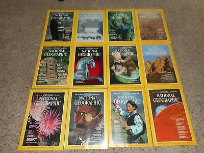 National Geographic Magazine lot of 12, Full Year 1980