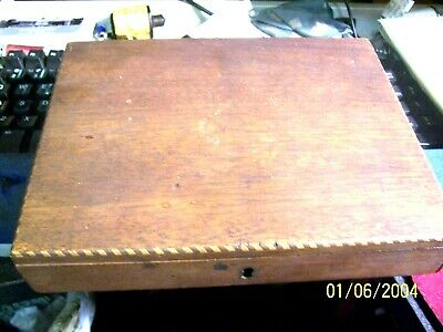 Antique Reeves & Woodyer English Inlaid Mahogany Artist's Box
