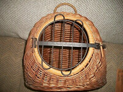 """Antique Small Animal Carrier, Hand Made From Germany-16"""" W,,,, 15"""""""" H"""