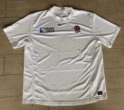 England 2011 World Cup Nike White Rugby Shirt Jersey Top Size Extra Large XL
