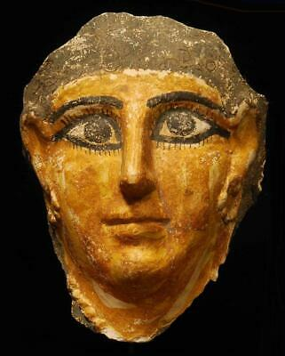 RARE ANCIENT EGYPTIAN MUMMY MASK, ROMAN PERIOD c. 100 AD