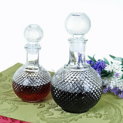 2x Crystal Whiskey Wine Shot Glass Bottle With Cap Stopper Drinking Bar Cup Gift