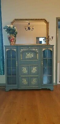 antique bureau cupboard from 1898 hand painted hand painted in annie sloan.