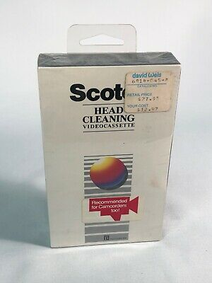 Scotch Head Cleaning Video Cassette Clean VCR Heads Sealed GG
