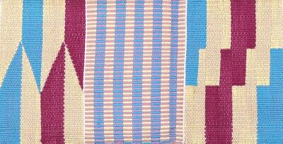 Ghana Kente African fabric cloth hand weaving cloth scarf stole Authentic new
