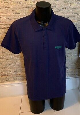 Moschino Mens Blue Polo Shirt Top Size XL