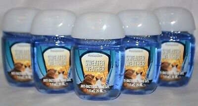 5 Bath & Body Works Pocketbac Sweater Weather Hand Sanitizer Anti Bac Gel