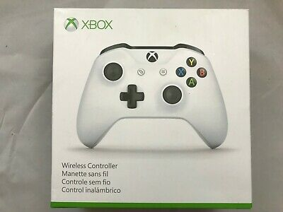 Official Microsoft Xbox One S Controller Wireless - White - Bluetooth Windows 10