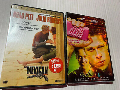 Brad Pitt DVD Lot - Fight Club And The Mexican - Brand New Sealed