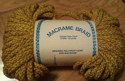 4 Vintage Macrame Braid Jumbo Color Cord 50 yards