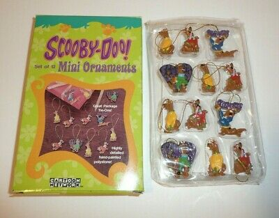 Set of 12 Mini Ornaments - Scooby Doo Cartoon Network Hanna Barbera Xmas