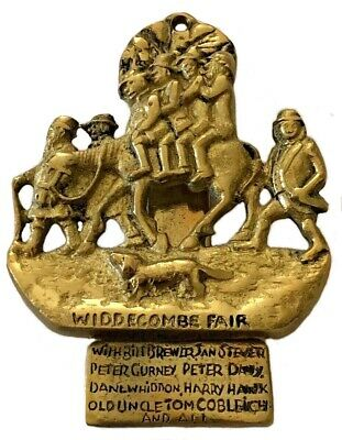 Vintage Brass Door Knocker Widdecombe Fair Old Uncle Tom