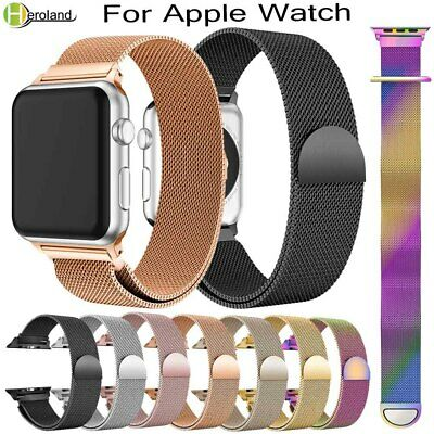 Apple Watch Series 4,3,2,1 Milanese Magnetic Stainless Steel Strap iWatch Band
