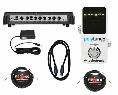 Ampeg PF-800 + TC Electronic Polytune Mini 2 + Power Supply + Cables