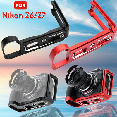GABALE Quick Release L Plate Bracket Cage Camera Hand Grip for Nikon Z7 Z6