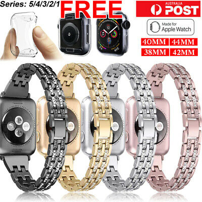 For Apple Watch iWatch Series 5/4/321 Diamond Stainless Steel Band 38/42/40/44mm