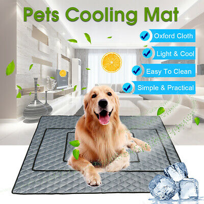 Pet Cooling Mat Non-Toxic Cool Pad Pet Bed For Summer Dog Cat Puppy M/L/XL !