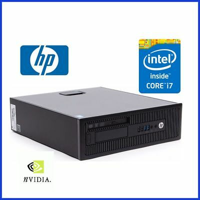 HP ELITEDESK 800 G1 INTEL i7 - 4770 @ 3.4GHZ 8GB 256GB SSD DVDRW WIN10 NVIDIA