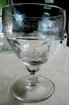 Late Georgian [Early Victorian] Engraved Rummer Glass