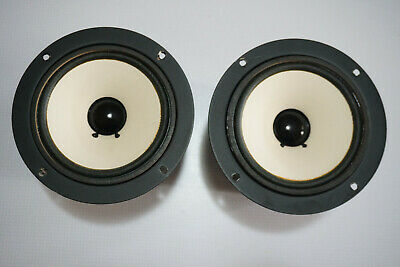"""Pair of Plessey 130M08 6"""" 8 Ohm 20W Canned Mid Range Speaker Drivers JAPAN"""