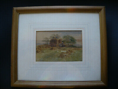 old original small watercolour painting