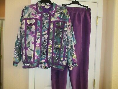 Vintage Great Cavalier By St Paul 100% Washable Silk Tracksuit with Pockets