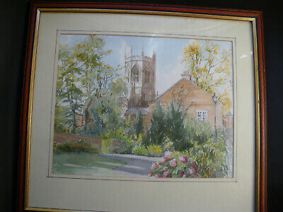 original signed watercolour painting (St Marys church, Nantwich)