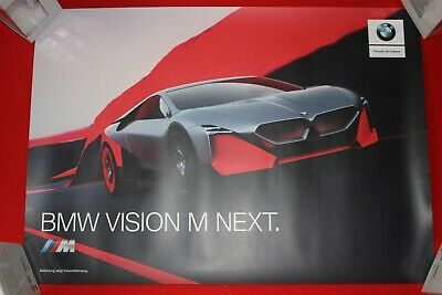 "BMW  IAA 2019 schickes Poster "" Vision M Next & Vision i Next """