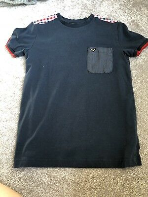 Voi Jeans Navy Blue/Red Boys T Shirt Aged 11-13years