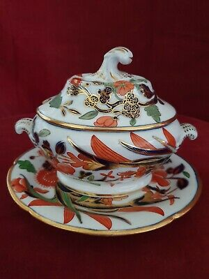 A Beautiful Highly Decorated Small Antique Tureen and Stand