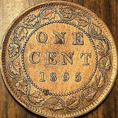 1895 CANADA LARGE CENT PENNY LARGE 1 CENT - Cleaned and with Die cracks
