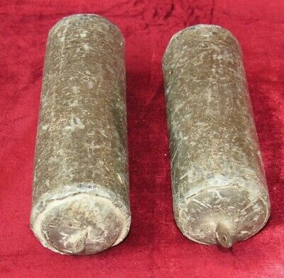Great Early Pair Of English Grandfather Clock Weights