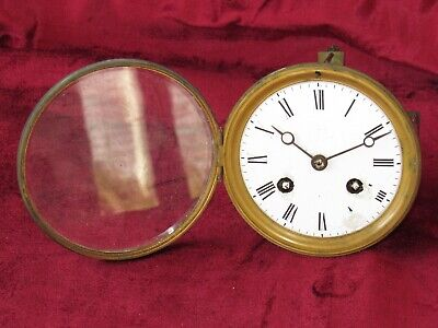 Good 8 Day Antique French Striking Clock Movement By 'J.Marti'