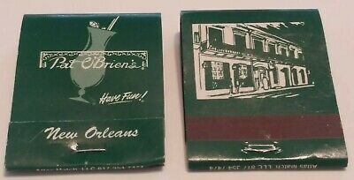Pat Obriens Matchbooks New Orleans Louisiana Famous Hurricane Cocktail Lot of 2