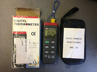 Digital Thermocouple Sensor Probe Thermometer -50~1300 °C with Carry Case & Box