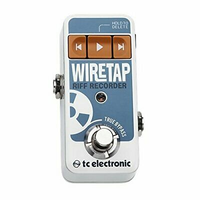 TC Electronic Wire Tap Riff Recorder Ultra-Compact Riff Recording Guitar Pedal