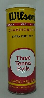 Vint. Sealed Can Wilson Championship 3 Optic Yellow Tennis Balls Extra Duty NOS
