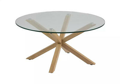Brand New Furniture Village Rigby Glass Coffee Table Rrp